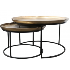Calypso Nesting Coffee Tables Brass Set of 2  | Coffee Tables | Tables | Tables | NEW ARRIVALS