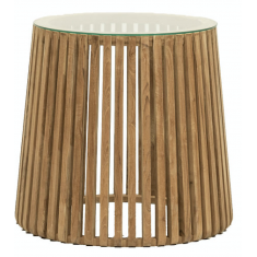 Crusoe Slatted Side Table  | Ocassional Tables | Tables | Tables | NEW ARRIVALS