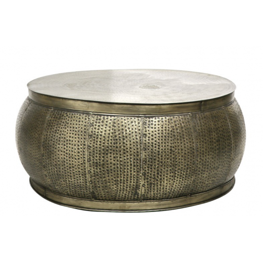 Chandri Hammered Brass Coffee Table  | Coffee Tables | Tables | Tables