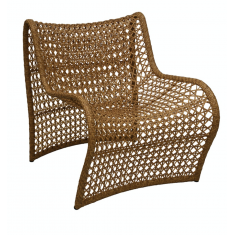 Wave Outdoor Chair Dark Natural  | Outdoor Furniture | Seating