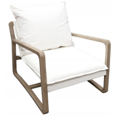 Acer Oak Lounge Chair White | Occasional Chairs | Seating | NEW ARRIVALS
