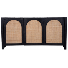 Candy Rattan Sideboard Black | Sideboards & Consoles | Sideboards and Consoles