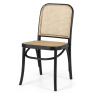 Hoffman Black Oak & Rattan Dining Chair