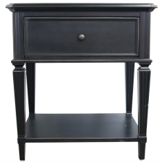 Bronson Bedside Aged Black  | Bedside Tables | Bedroom | Bedroom