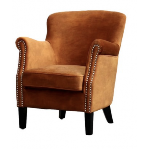 Professor Velvet Chair Rust  | Occasional Chairs | Seating | Seating | Home