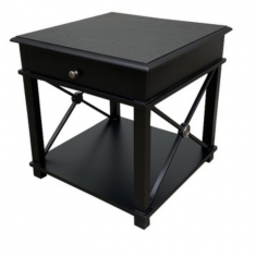 Chateau Side Table Black  | Bedside Tables | Ocassional Tables | Bedroom | Bedroom | Tables | Bedroom | Tables