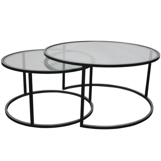Ethan Iron & Glass Nesting Coffee Table  | Coffee Tables | Tables | Tables | NEW ARRIVALS | Home