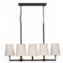 Milano Suspended 8 Light Chandelier With Shades