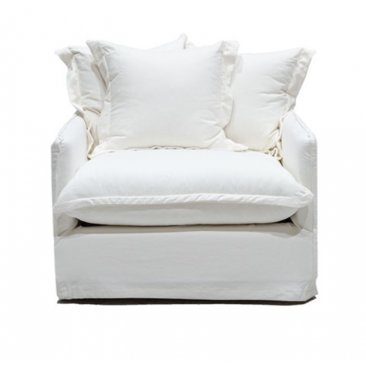 Lotus Slip Cover Arm Chair White  | Occasional Chairs | Seating | Seating | Seating | NEW ARRIVALS | Home