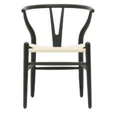 Jaffery Dining Chair Black/Natural  | Dining Chairs | Seating | Seating