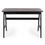 Radius Desk Black Oak