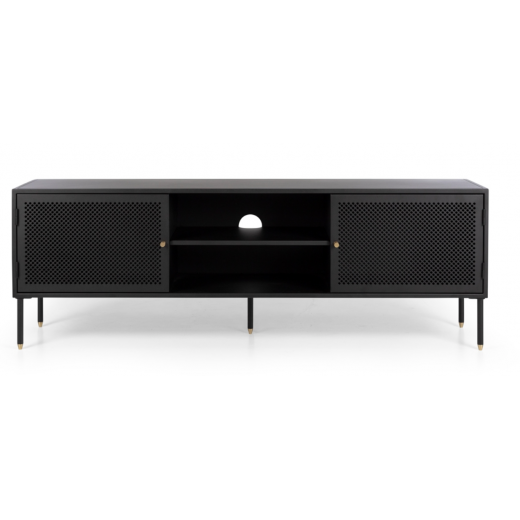 Dawn Metal TV Unit 1600 Black  | Entertainment Units | Entertainment Units | Storage, Shelving and Cabinets | NEW ARRIVALS