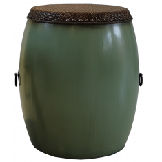 Antique Drum Sage Green  | Stools | Ocassional Tables | Bedroom | Seating | Tables