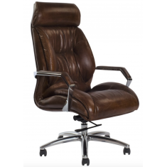 GM ADJUSTABLE DESK CHAIR - VINTAGE CIGAR  | Leather Furniture | Occasional Chairs | Seating