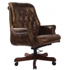 Bankers Leather Chair Brown  | Leather Furniture | Occasional Chairs | Seating | Seating