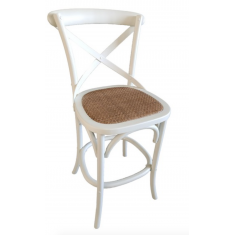 Cross Back Wooden Barstool White    Stools   Seating   Seating