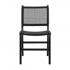 Hayes Outdoor Dining Chair Black    Outdoor Furniture   Dining Chairs   Seating
