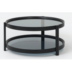 Column Coffee Table Black    Coffee Tables   Tables   Tables
