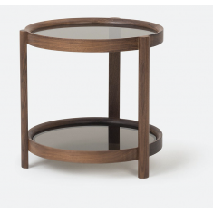 Column Side Table Walnut  | Ocassional Tables | Tables | Tables