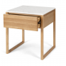 Avalon Natural Oak Side Table (Marble Top)