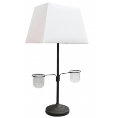Deco Vase Lamp White Shade  | Table Lamps