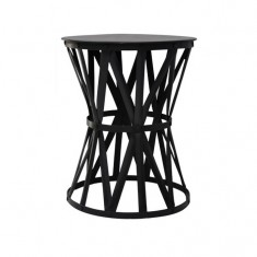Drum Table Black Medium | Bedside Tables | Ocassional Tables | Bedroom | Tables | Tables