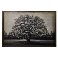 Framed Canvas Tree with LED Lights  | Wall Art