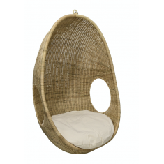 Natural Rattan Pod Chair Indoor   Outdoor Furniture   Occasional Chairs   Seating