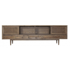 Chester Pine and Rattan media Unit  | Entertainment Units | Shelving, Storage and Cabinets | Storage, Shelving and Cabinets