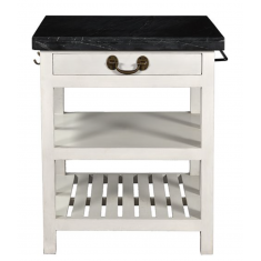 Lars Kitchen Island Black & Light Grey Small | Shelving, Storage & Cabinets | Sideboards and Consoles | Storage, Shelving and Cabinets