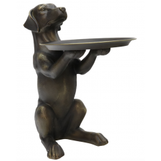 Bronze Style Dog Tray  | Ocassional Tables | Home Décor & Gifts