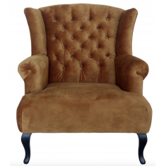 Berkshire Buttoned Wing Chair Rust  | Occasional Chairs | Seating | Seating | Seating | NEW ARRIVALS