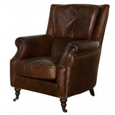 Springfiled Chair Vintage Cigar | Occasional Chairs | Seating | Leather Furniture