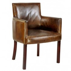 Ithaca Carver Chair Brown | Occasional Chairs | Dining Chairs | Seating | Seating | Leather Furniture