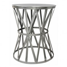 Drum Table Nickel Medium | Bedside Tables | Ocassional Tables | Bedroom | Tables | Bedroom