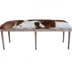 Goat Skin Double Stool Oak | Ottomans and Chaises | Seating | Seating