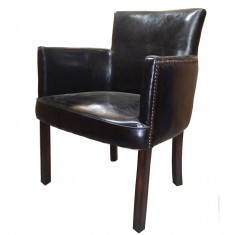 Ithaca Carver Chair Black | Seating | Occasional Chairs | Dining Chairs | Seating | Seating | Leather Furniture