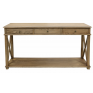 Sutters Console Oak Three Drawers